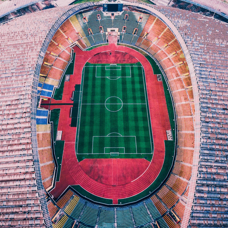 Et stort stadium